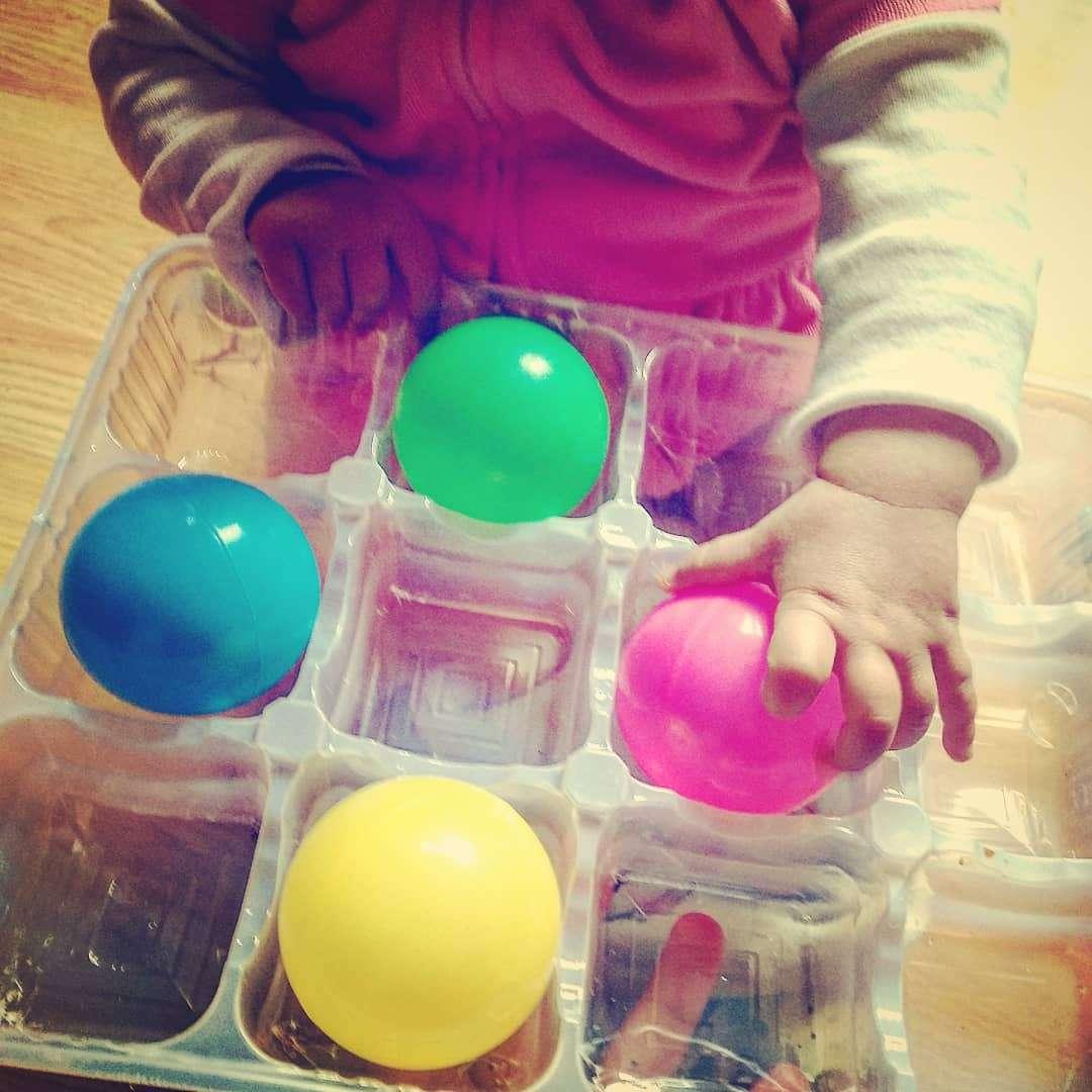 Игра с цветни топки