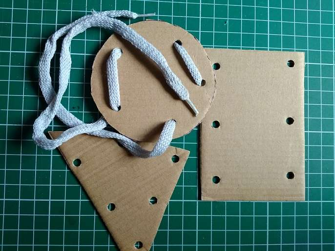 Форми за низане от картон