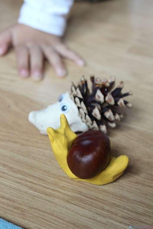 Да си направим животни от кестени и шишарки