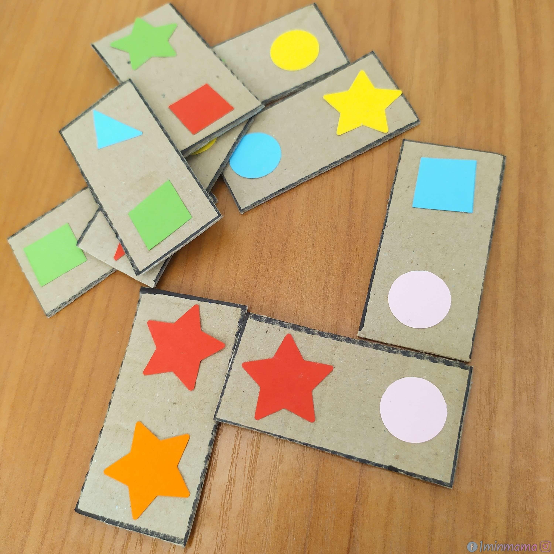 Домино за учене на цветовете и формите