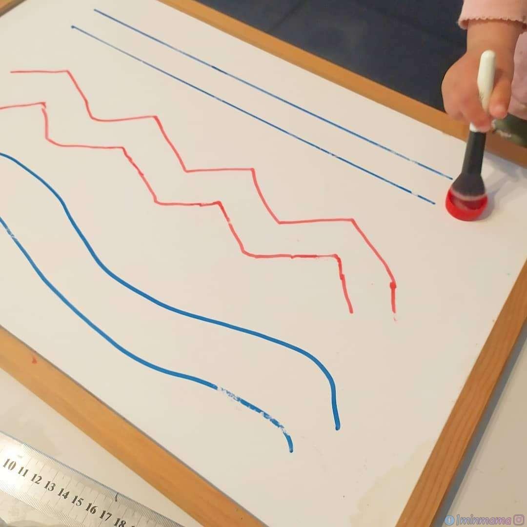 Тренираме ръката за писане с капачка и четка за пудра